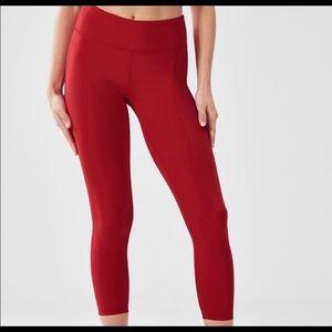 Fabletics Red Capri pants